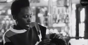 Lupita Nyong'o Braiding Hair Image via YouTube.