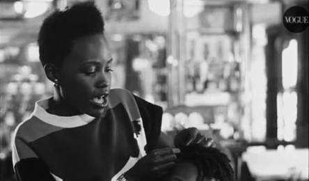 Lupita Nyong'o braids hair for Vogue and we love it!!