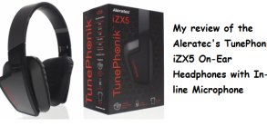 Aleratec TunePhonik iZX5 On-Ear Headphones with In-line Microphone